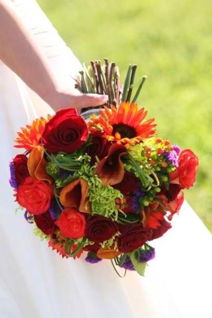 27 Romantic Fall Wedding Bouquets (20)