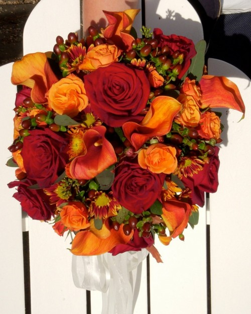 27 Romantic Fall Wedding Bouquets (25)