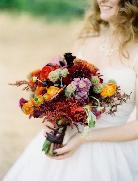 27 Romantic Fall Wedding Bouquets (5)