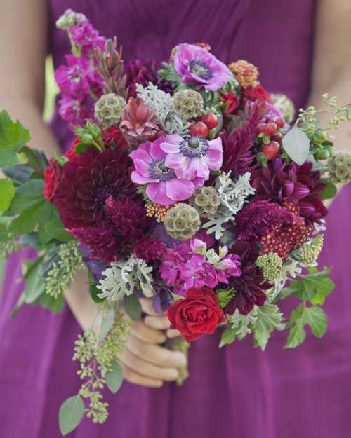 27 Romantic Fall Wedding Bouquets (9)