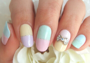 27 Simple and Cute Nail Art Ideas - simple, nails, Nail Art, ideas, Cute
