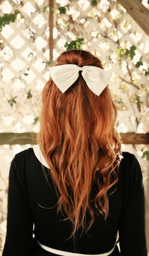 33 Adorable Hairstyles with Bows (16)