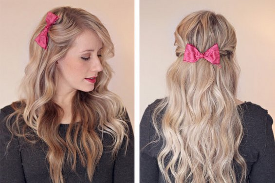 33 Adorable Hairstyles with Bows (26)