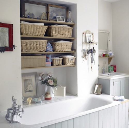 35 great storage and organization ideas for small for Bathroom storage ideas b q