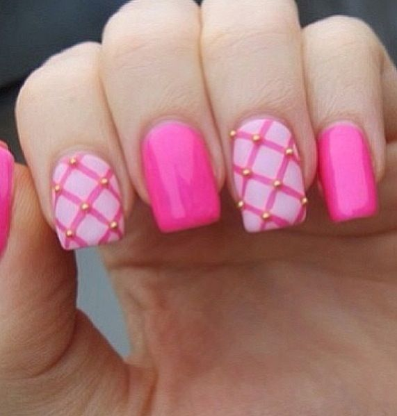 Ideas Of Nail Art: 40 Stylish Pink Nail Art Ideas