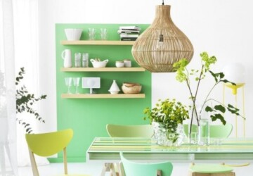 27 Great Dining Room Design Ideas in Bright and Pastel Colors - pastel colors, dinning room, design ideas, bright colors