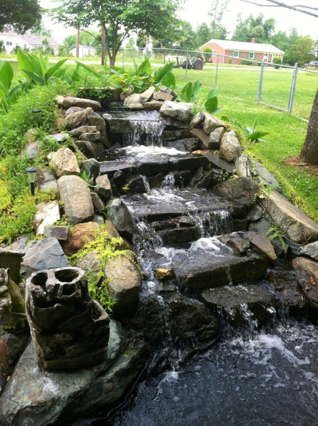 26 amazing garden waterfall ideas style motivation Garden waterfall designs