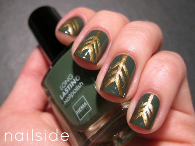 Golden Tones on Your Nails 24 Perfect Nail Art Ideas (12)