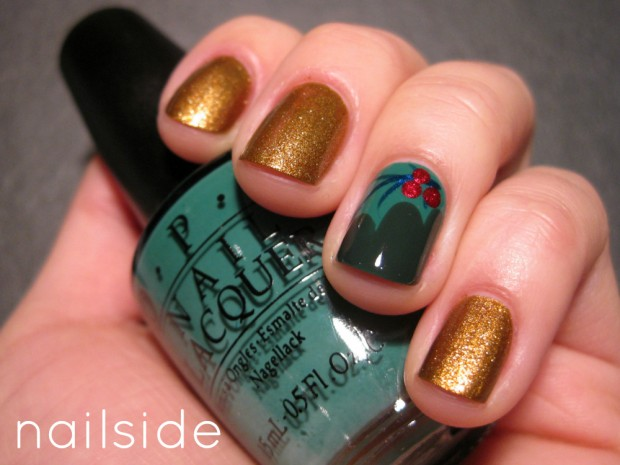 Golden Tones on Your Nails 24 Perfect Nail Art Ideas (23)