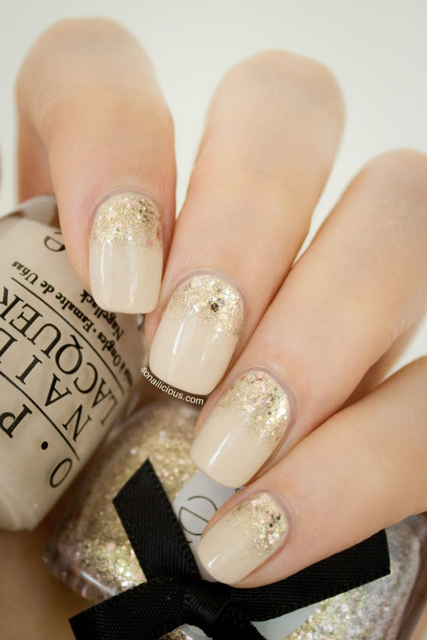 Golden Tones on Your Nails 24 Perfect Nail Art Ideas (3)