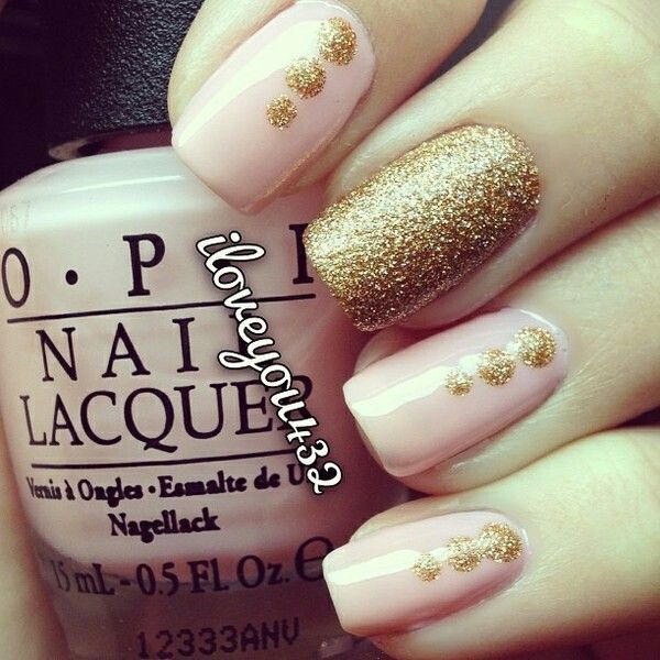Golden Tones on Your Nails 24 Perfect Nail Art Ideas (9)