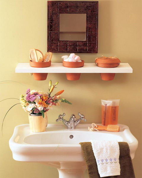 35 great storage and organization ideas for small for Great ideas for small bathrooms