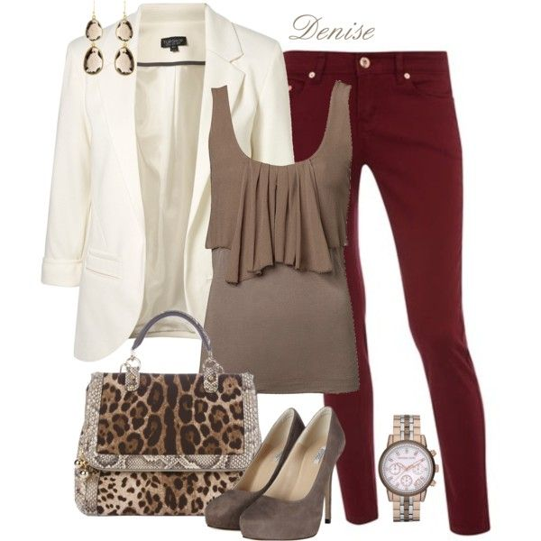 Perfect Fall Look 23 Outfit Ideas in Burgundy Color (12)