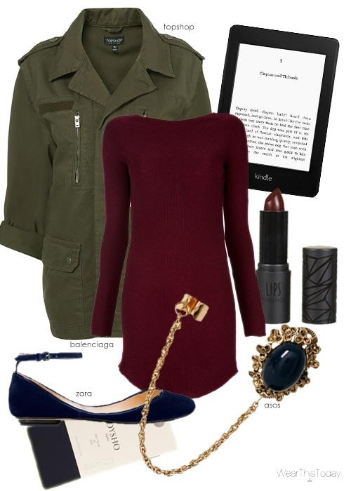 Perfect Fall Look 23 Outfit Ideas in Burgundy Color (14)