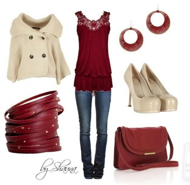 Perfect Fall Look 23 Outfit Ideas in Burgundy Color (15)