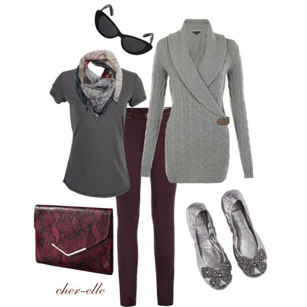 Perfect Fall Look 23 Outfit Ideas in Burgundy Color (17)