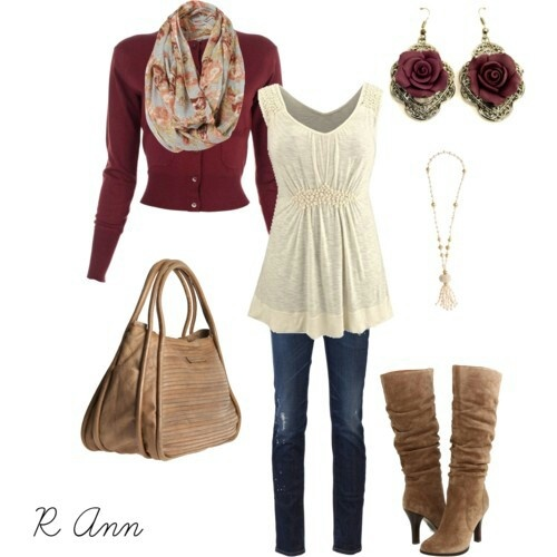 Perfect Fall Look 23 Outfit Ideas in Burgundy Color (19)