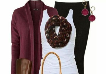 Perfect Fall Look: 23 Outfit Ideas in Burgundy Color - Outfit ideas, fall fashion, burgundy