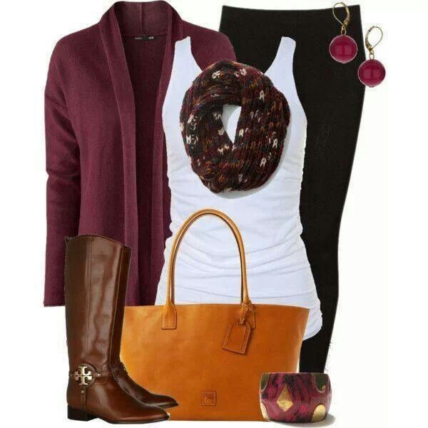 Perfect Fall Look 23 Outfit Ideas in Burgundy Color (22)