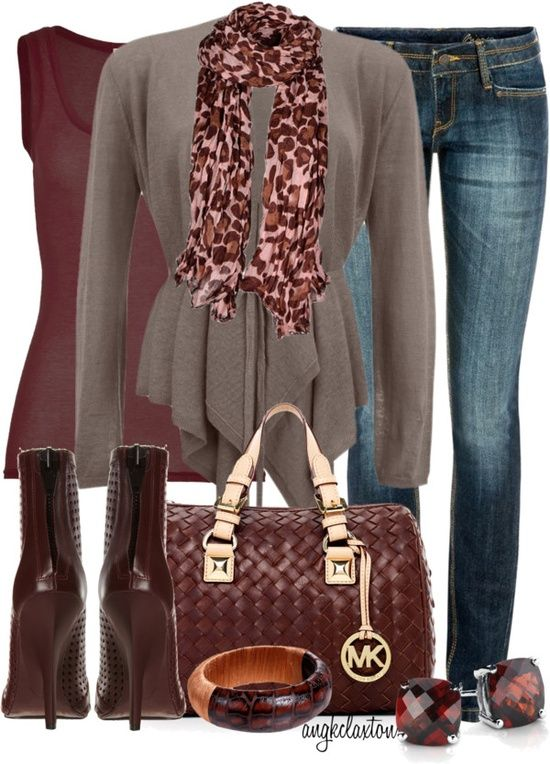 Perfect Fall Look 23 Outfit Ideas in Burgundy Color (23)
