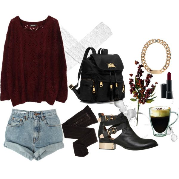 Perfect Fall Look 23 Outfit Ideas in Burgundy Color (4)
