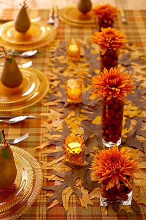 25 beautiful fall wedding table decoration ideas style for Pictures of fall table decorations