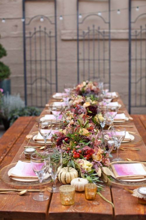 25 Beautiful Fall Wedding Table Decoration Ideas - Style ...