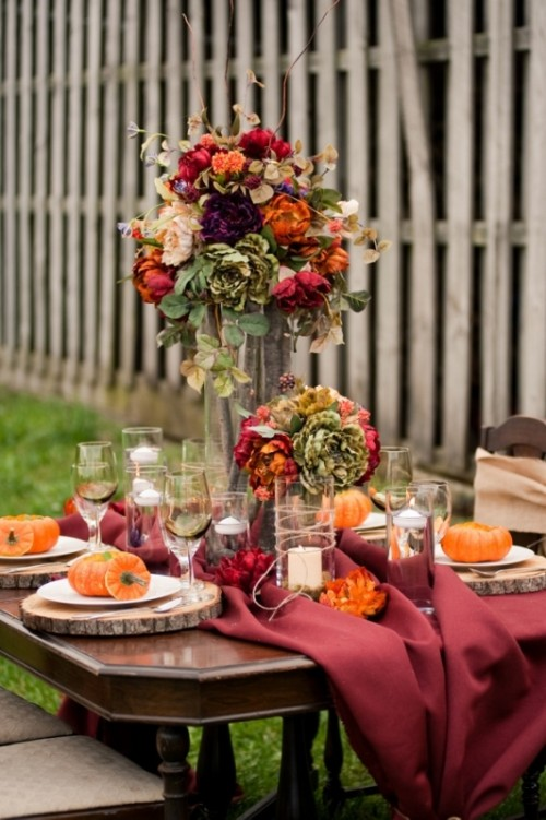 25 beautiful fall wedding table decoration ideas style motivation. Black Bedroom Furniture Sets. Home Design Ideas