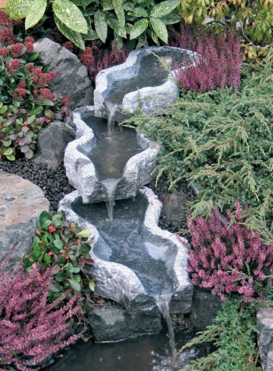 26 Amazing Garden Waterfall Ideas - Style Motivation on Waterfall Ideas For Garden id=43440