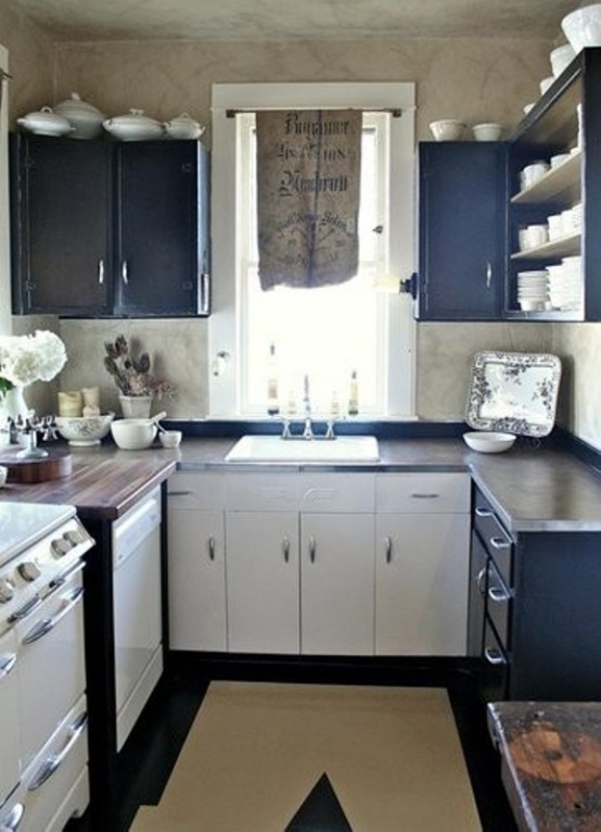 27 brilliant small kitchen design ideas style motivation for Small kitchen layout ideas