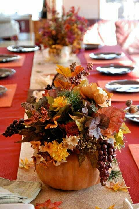 25 beautiful fall wedding table decoration ideas style Simple thanksgiving table decorations