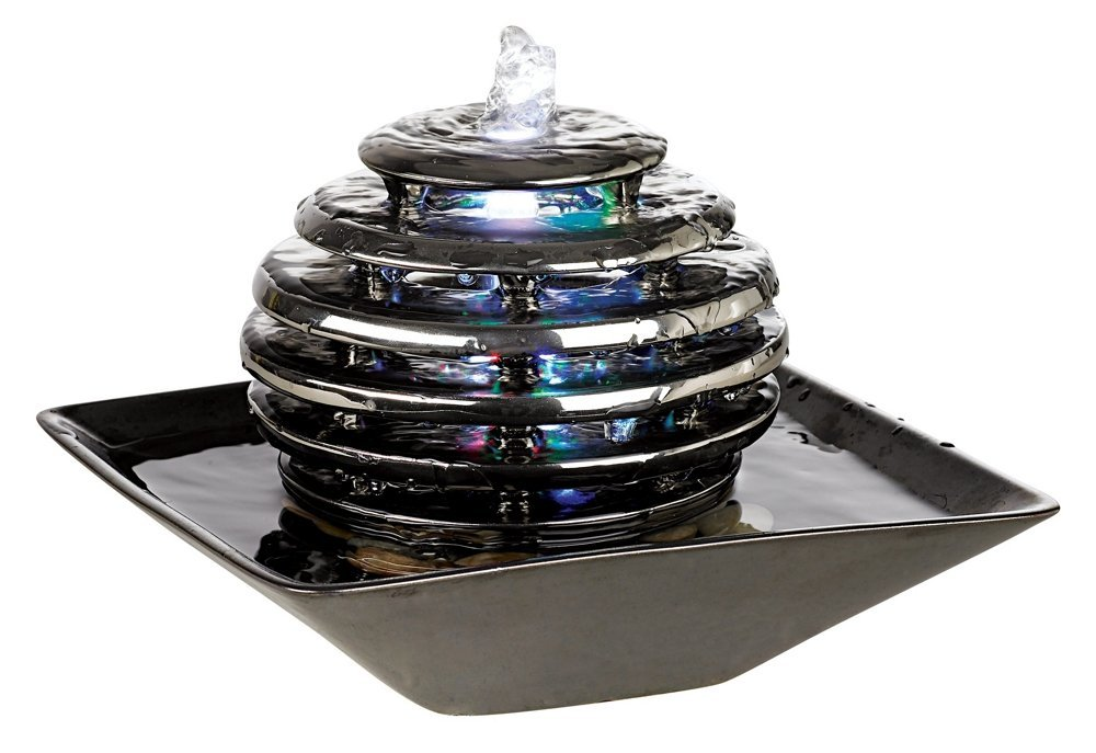 Metallic Chrome Led Light Table Fountain 16 Really Cool Indoor Water Decorations