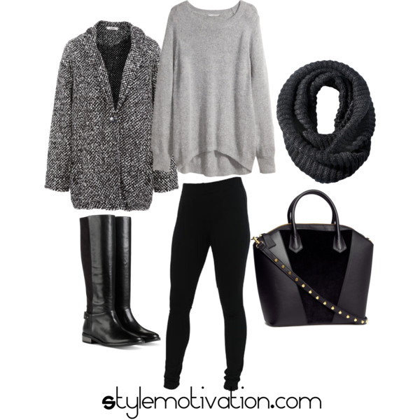 17 Cozy and Casual Combinations for Winter (17)