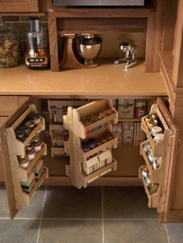 18 amazing diy storage ideas for perfect kitchen Kitchen under cabinet storage ideas