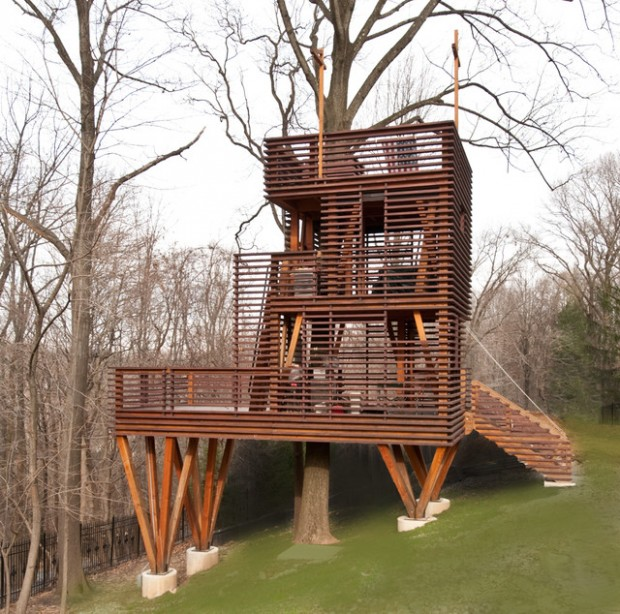 18 Amazing Tree House Design Ideas that Your Kids Will Love (12)