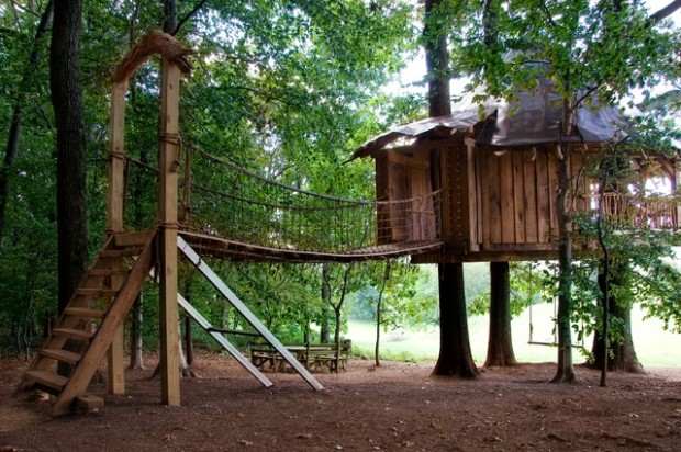 18 Amazing Tree House Design Ideas that Your Kids Will Love (17)