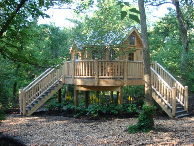 18 Amazing Tree House Design Ideas that Your Kids Will Love (2)