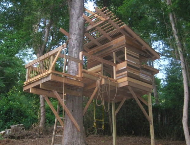 18 Amazing Tree House Design Ideas that Your Kids Will Love (6)