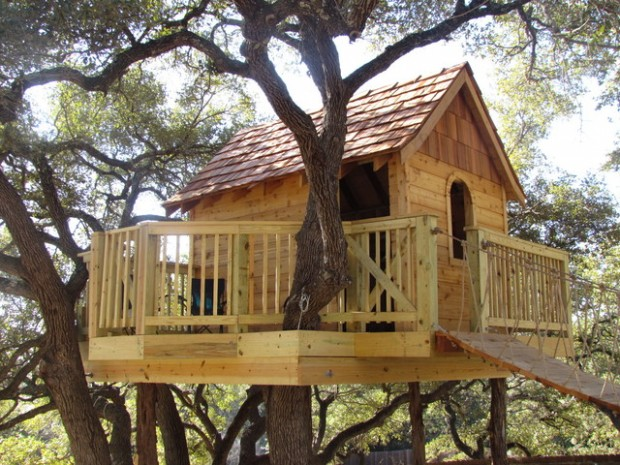 18 Amazing Tree House Design Ideas that Your Kids Will Love (9)