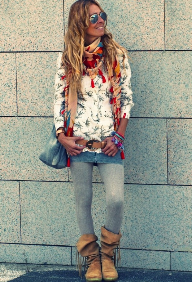 19 Chic and Stylish Outfit Ideas with Scarf for Cold Days (12)