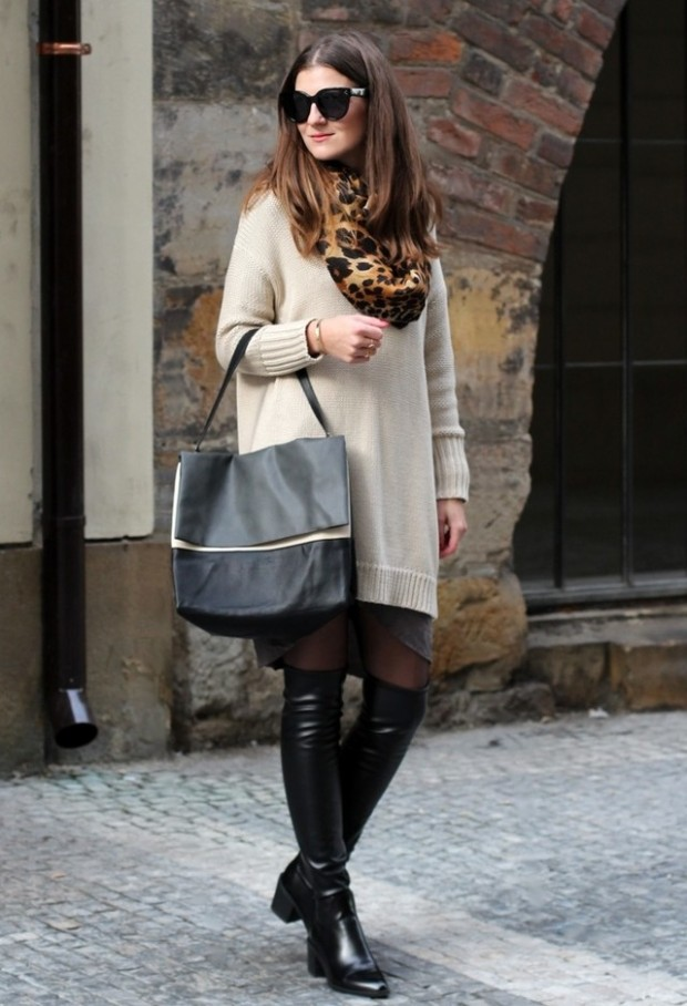 19 Chic and Stylish Outfit Ideas with Scarf for Cold Days (18)