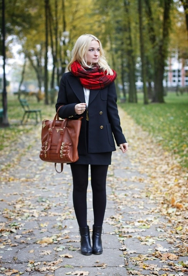 19 Chic and Stylish Outfit Ideas with Scarf for Cold Days (2)