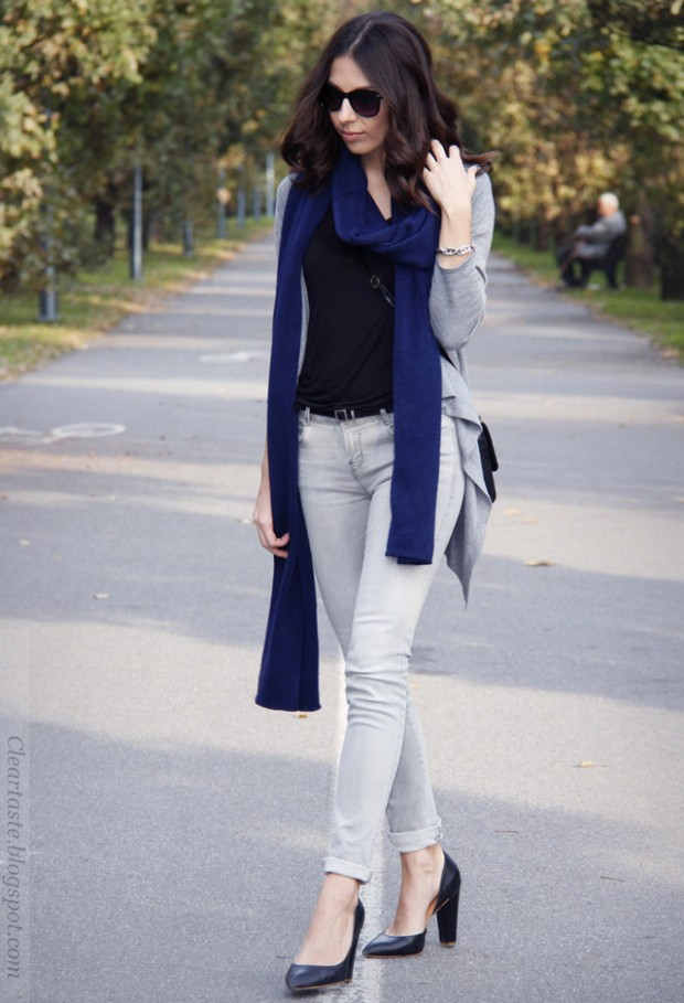 19 Chic and Stylish Outfit Ideas with Scarf for Cold Days (3)