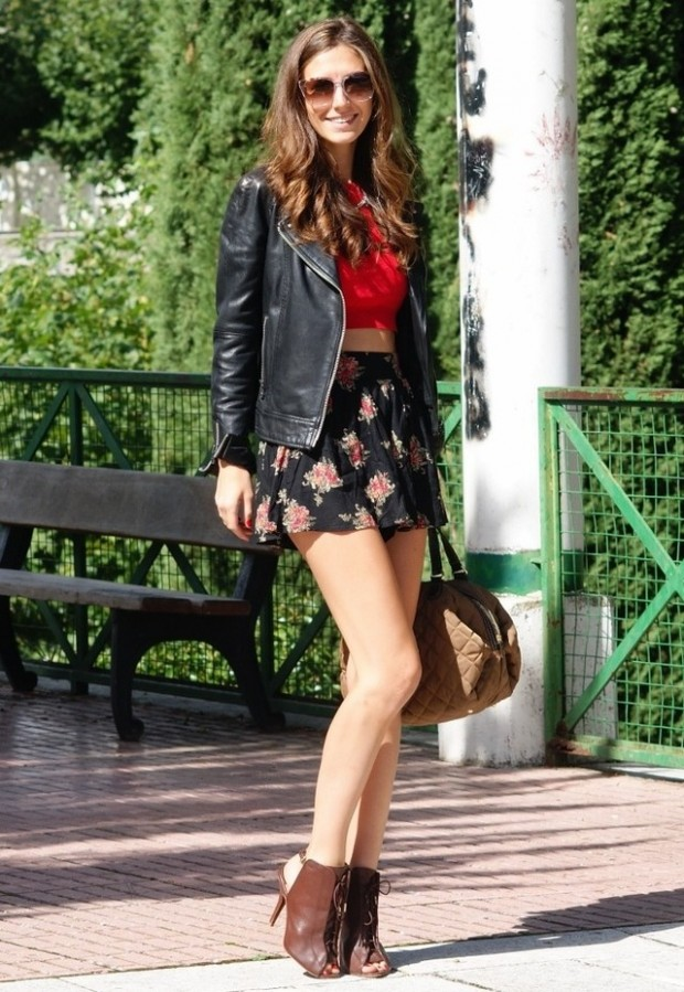 19 Cool Outfit Ideas with Leather Jackets (10)