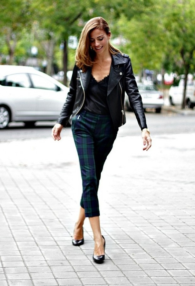 19 Cool Outfit Ideas with Leather Jackets (13)