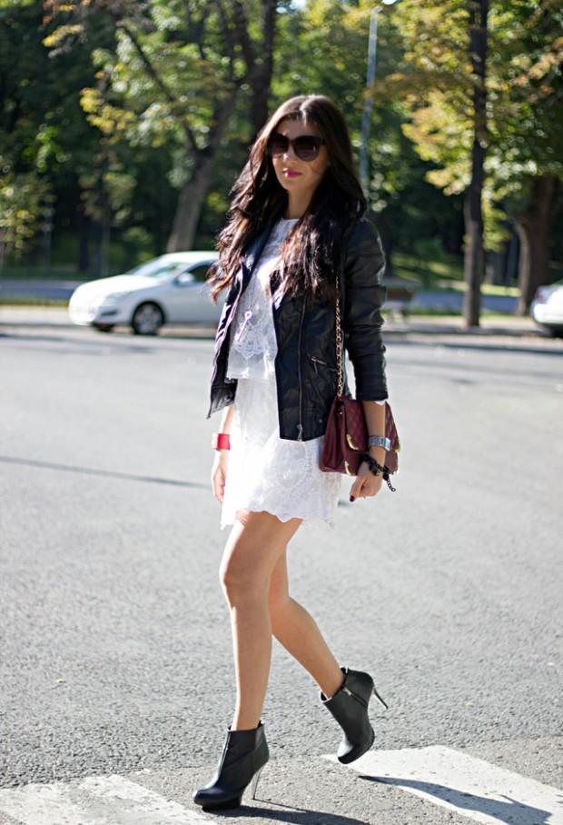 19 Cool Outfit Ideas with Leather Jackets (17)