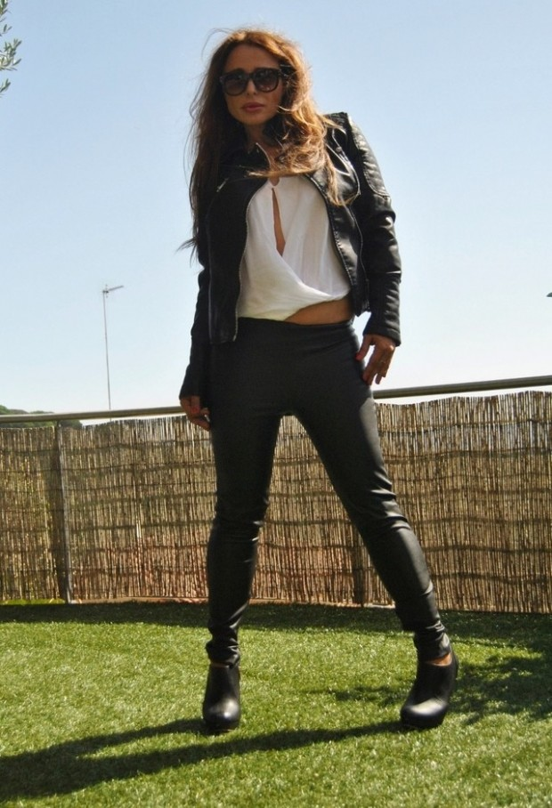 19 Cool Outfit Ideas with Leather Jackets (3)