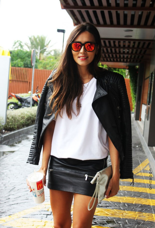 19 Cool Outfit Ideas with Leather Jackets (6)