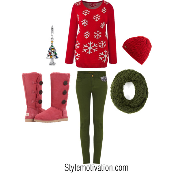20 Cute Christmas Outfit Ideas (6)