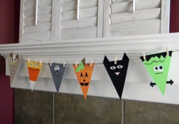 19 Great DIY Halloween Garlands and Banners for Perfect Halloween Home Decor - Halloween decorations, halloween, garlands, diy, banners